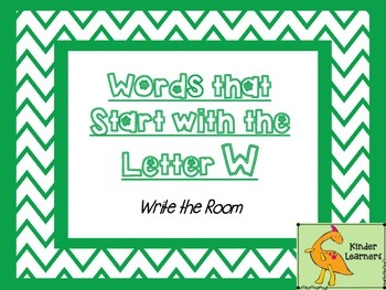 Write the Room Letter W