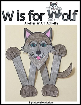 Letter W art activity Template- W is for Wolf Art activity