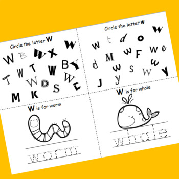 Letter W booklet