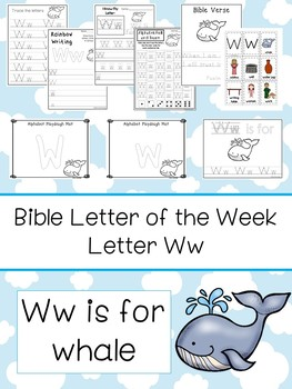 Letter W is for whale. Bible Letter of the Week.