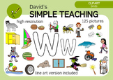 Letter W phonics - spelling clipart with free preview