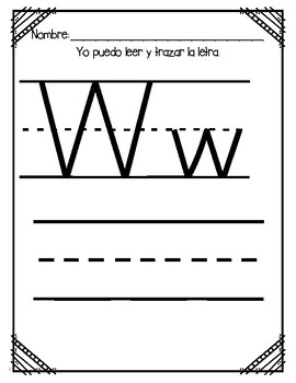 Aprendiendo la letra W