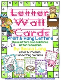 Letter Wall Cards - Print & Laminate