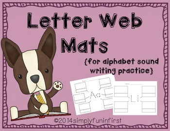 Letter Web Mats {for alphabet sound writing practice}