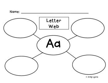 Letter Webs A-Z