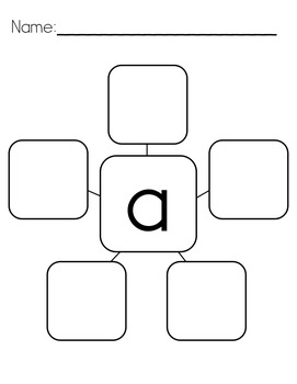 Letter Webs: BLANK Cut & Paste Worksheets {Common Core Aligned}