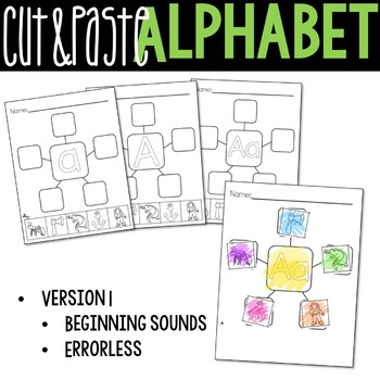 Letter Webs: Cut & Paste Beginning Sound Worksheets {Common Core Aligned}