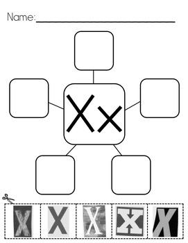Letter Webs: Magazine Letter Cut & Paste Worksheets {Common Core Aligned}