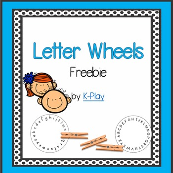 Alphabet A-Z Letter Wheels  Freebie
