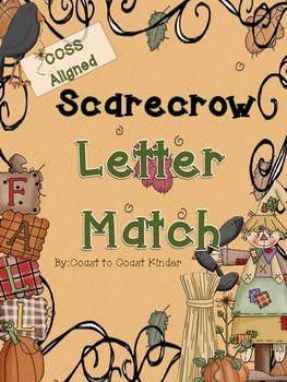 Fall Scarecrows Letter & Word Match CCSS Alligned