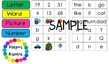 Letter Word Number Picture Sort