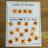Back to School Kindergarten Print Awareness with Letter Wo