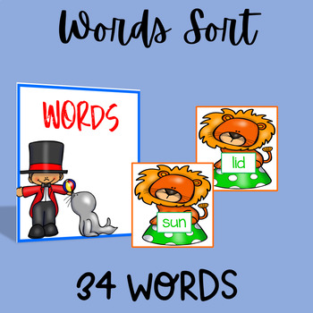 Letter Word Sentence Sort | Circus Edition