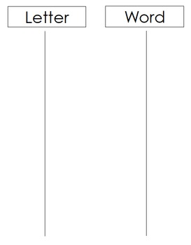 Letter, Word & Sentence Sort File Folder Game