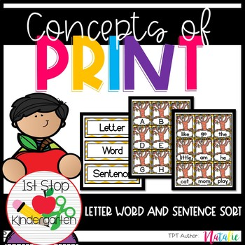 Letter, Word, Sentence Word Work Center