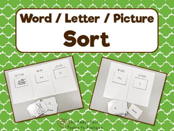 Letter Word Sort