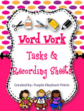 Letter & Word Work Center Task Cards