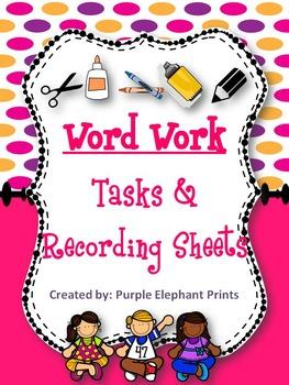 Letter & Word Work Center Task Cards