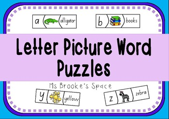 Letter, Word and Picture Puzzles