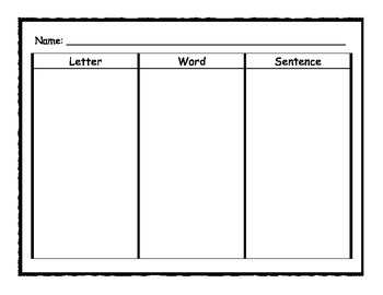 Letter, Word, and Sentence Packet