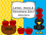 Letter, Word, and Sentence Sort