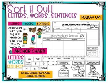 Letters Words Sentences Worksheets Teaching Resources Tpt