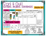 Letters, Words, and Sentences Sort