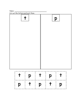 Letter Work: Letter Sort and Picture Sort by Initial Sound