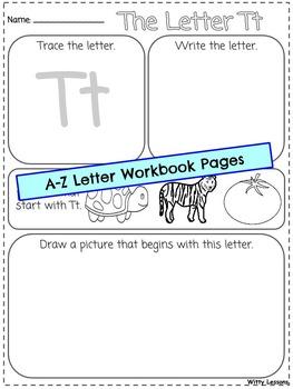 Letter Workbook: A-Z for Pre-K and Kindergarten