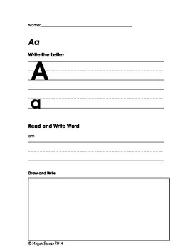 NO PREP Letter Worksheet Bundle