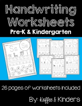 Handwriting Worksheets [[26 PAGES!]]