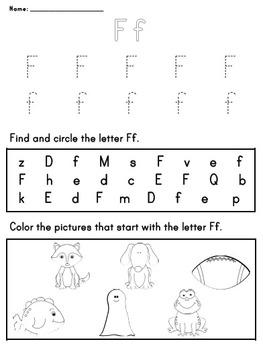 Letter Worksheet: F