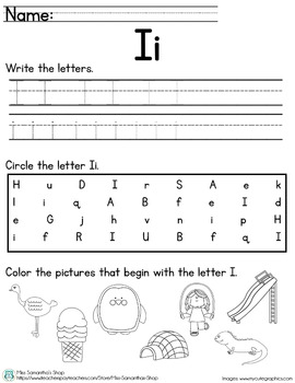 Letter Worksheet: I