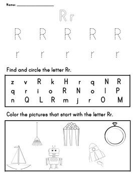 Letter Worksheet: R