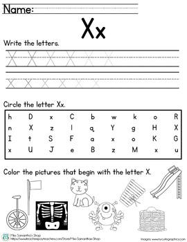Letter Worksheet: X