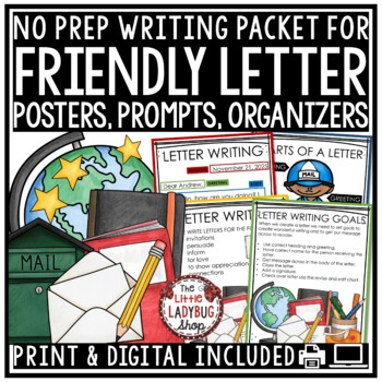 Friendly Letter Writing Unit - 2nd Grade, 3rd Grade, 4th Grade