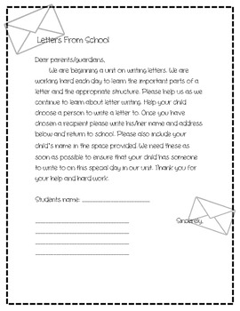 Letter Writing: A Unit of Study