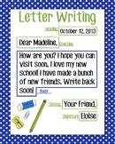 Letter Writing Anchor Chart, Blue Polka Dot