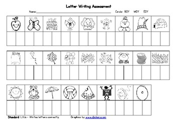 Letter Writing Assessment