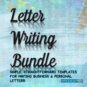 Letter Writing Bundle: How to Write Business and Friendly Letters