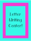 Letter Writing Center
