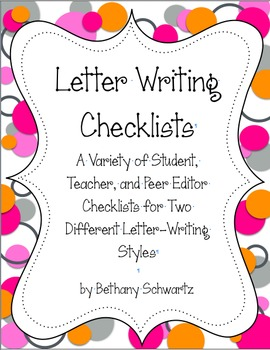 Letter Writing Checklists