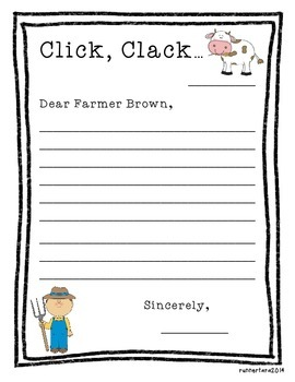 Letter Writing- Click, Clack, Moo