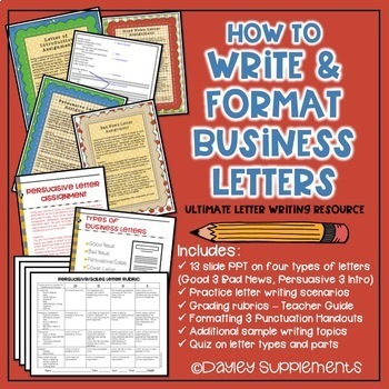 Business letter format teaching resources teachers pay teachers business letter format bundle business letter format bundle spiritdancerdesigns Images