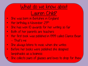 Letter Writing Complete Lesson – Lauren Child