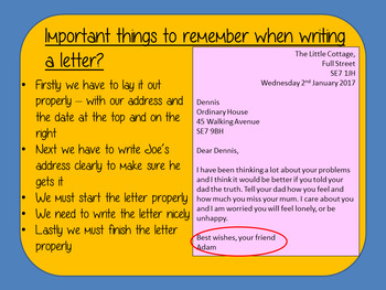 Letter Writing Complete Lesson  – The Boy in the Dress