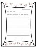 Letter Writing- Dear Tooth Fairy