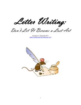 Letter Writing:  Don't Let It Become a Lost Art