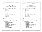 Letter Writing Editing Checklist