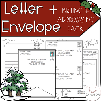 letter writing envelope addressing holiday edition